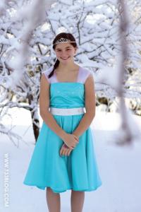 Inšpiratívne šitie – Elza princeznovské šaty