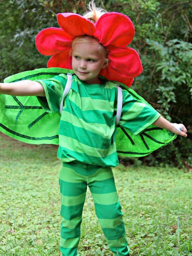 Kvetinkový kostým na karneval