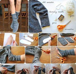 Zvyťahaného pulóvra dokonalé ohrievadlo nôh