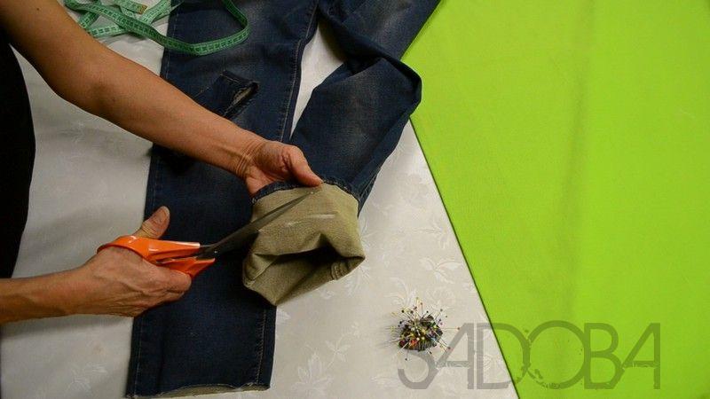 Skrátenie riflových nohavíc